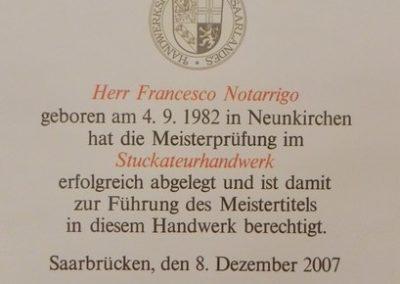Meisterbrief seit 2007